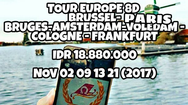 PROMO EUROPE 8D PARIS – BRUSSEL – BRUGES – AMSTERDAM – VOLENDAM – COLOGNE - FRANKFURT